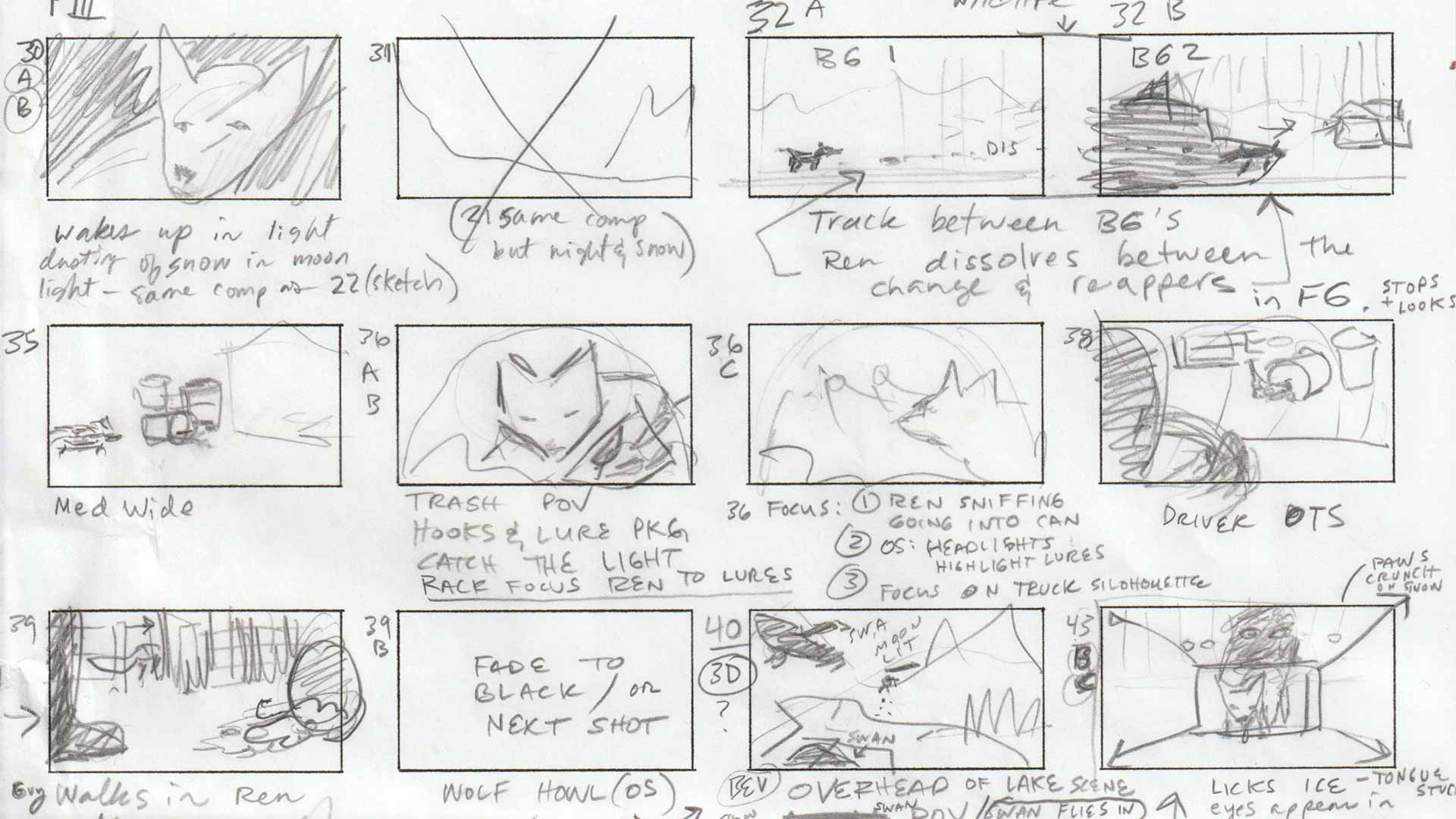 Storyboard frame Ren No Barriers animation